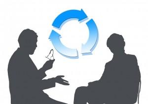Feedback image indicating a dialogic process