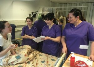 Students in the infection control scenario