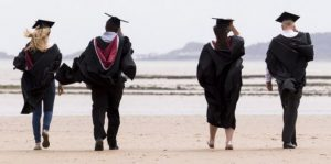 Image of students on the beach from SAILS website