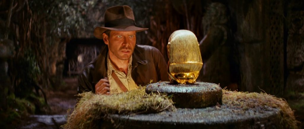"Indiana Jones searching for the Gold Standard VLE from ""Indiana Jones and The Raiders of the Lost Ark, Directed by Steven Spielberg, Paramount Pictures, 1981"