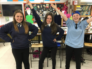 School pupils in a power pose