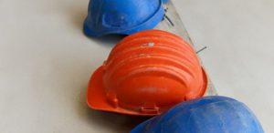 Three builders' hats
