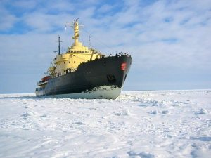 Image of an icebreaker ship