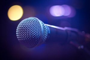 Image of a microphone symbolising an announcement