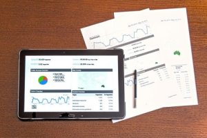 Mobile device and paper printouts of graphs and data