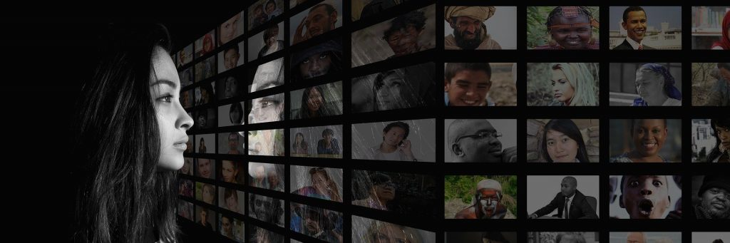 a screen of faces from different backgrounds